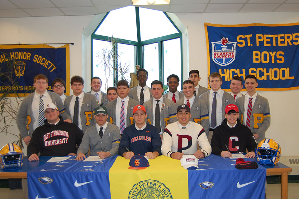 National Signing Day at St. Peter's