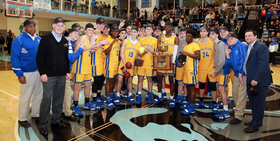 St. Peter's wins a nail-biter to capture its third straight SIHSL crown, 61-58